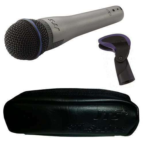 JTS SX-8 HANDHELD DYNAMIC WIRED VOCAL MICROPHONE LIVE STAGE DJ + CLIP + CASE