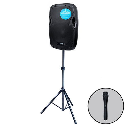 KAM RZ10A V3 PORTABLE 550W BATTERY POWERED PA SPEAKER +BLUETOOTH MP3 +MIC +STAND