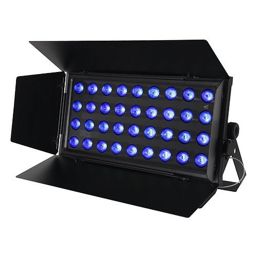 EQUINOX CABARET COLOUR 288W RGBW BAND STAGE LIGHTING WASH LIGHT WITH BARN DOORS