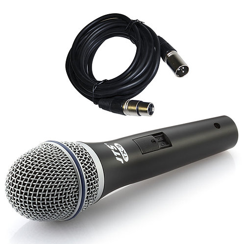 JTS TX-8 HANDHELD DYNAMIC CARDIOID WIRED VOCAL MICROPHONE +SWITCH + XLR MIC LEAD