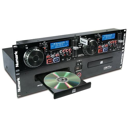 """NUMARK CDN77USB DUAL TWIN CD USB MP3 DJ MEDIA PLAYER 19"""" RACK RACKMOUNT CDN 77"""