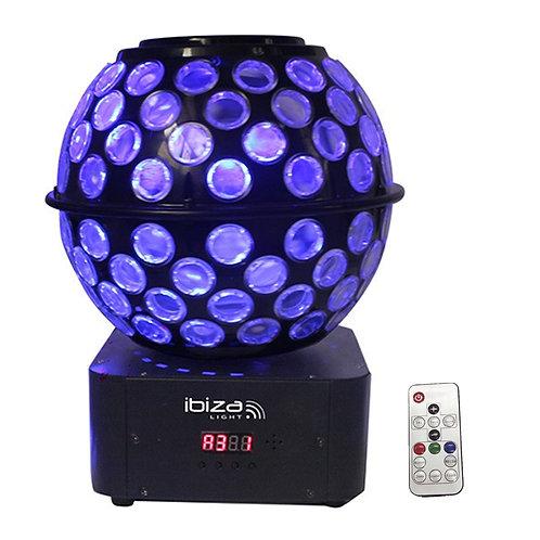 IBIZA LIGHT STARBALL-GB ROTATING GOBO + BEAM FX LED MIRRORBALL DJ DISCO LIGHTING