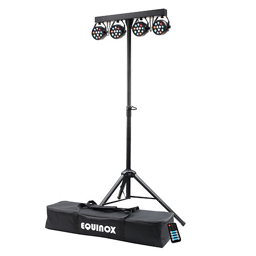 EQUINOX MICROPAR RGBW LED PAR CAN LIGHTING BAR SYSTEM DISCO BAND + REMOTE + BAG