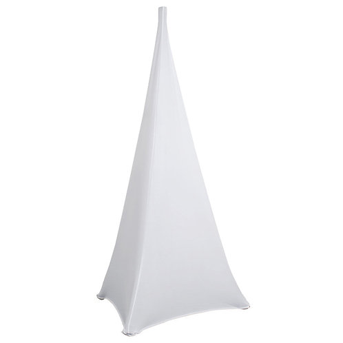 HIGH QUALITY DOUBLE SIDED WHITE LYCRA SCRIM FOR SPEAKER STAND DJ DISCO WEDDING