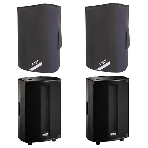 "2x FBT PROMAXX 114A 14"" 3600W POWERED ACTIVE PA SPEAKER DJ DISCO BAND + COVERS"