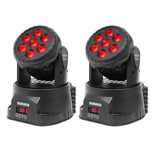 2x EQUINOX FUSION 50 MKII 112W RGBW LED MOVING HEAD WASH LIGHT DJ DISCO LIGHT
