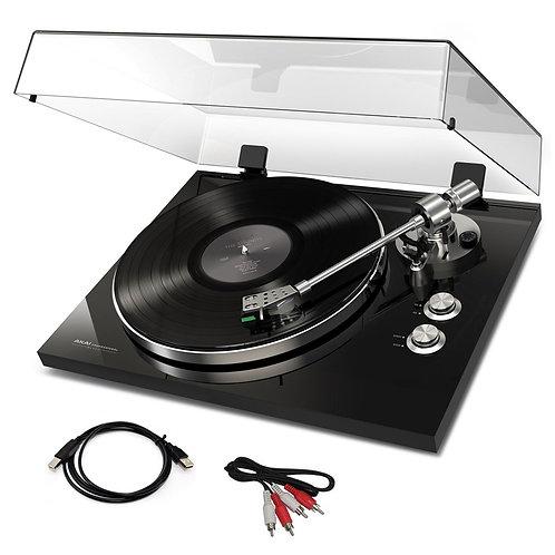 AKAI BT500 BLACK HI-FI TURNTABLE RECORD PLAYER + BLUETOOTH + CARTRIDGE +SOFTWARE