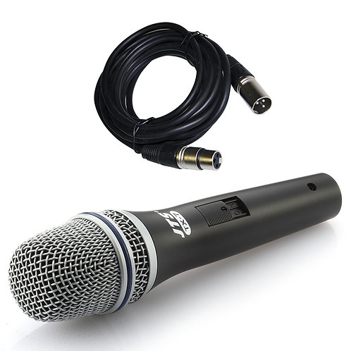 JTS TX-7 HANDHELD DYNAMIC WIRED VOCAL + INSTRUMENT MICROPHONE +SWITCH +XLR LEAD