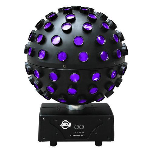 AMERICAN DJ ADJ STARBURST 75W MULTI-COLOUR LED ROTATING MIRROR BALL FX LIGHT