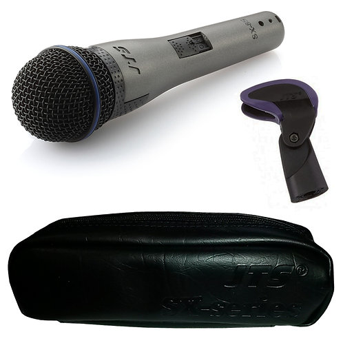 JTS SX-8S HANDHELD DYNAMIC WIRED VOCAL MICROPHONE WITH SWITCH + CLIP + CASE