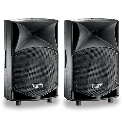 """2x FBT JMAXX 110A PROFESSIONAL 10"""" 1800W POWERED PA SPEAKER OR MONITOR DJ BAND"""