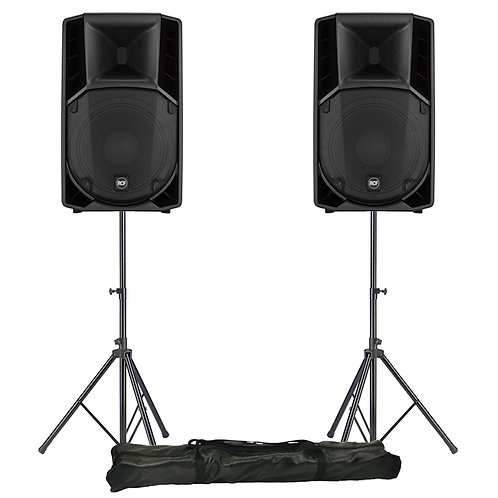 "2x RCF ART 712-A MK4 12"" 2800W POWERED ACTIVE PA SPEAKER DISCO BAND CLUB +STANDS"
