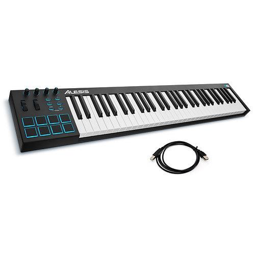 ALESIS V61 61-KEY 8 PAD USB MIDI KEYBOARD CONTROLLER + SOFTWARE + USB CABLE
