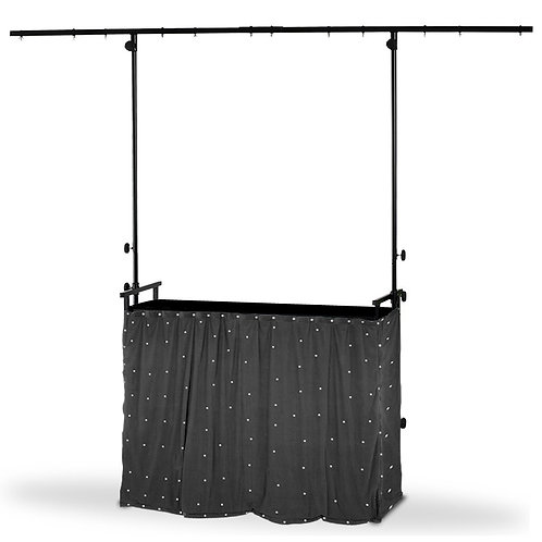 4 FOOT DJ LIGHTING STAND WITH 4FT DESK TOP + LED STAR CLOTH PACKAGE HIRE