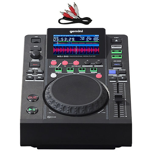 GEMINI MDJ-500 USB MP3 MIDI DJ DECK MEDIA PLAYER CONTROLLER + 24-BIT SOUNDCARD