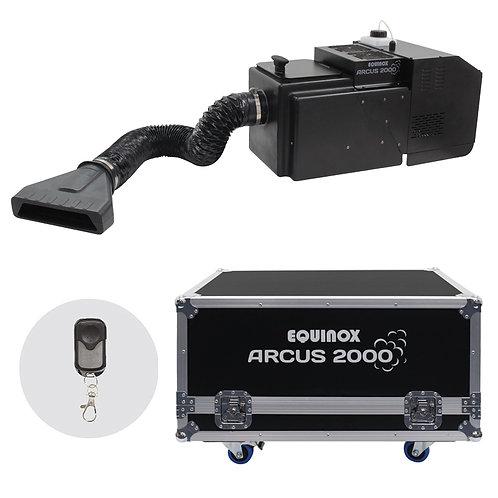 EQUINOX ARCUS 2000 LOW FOGGER DRY ICE EFFECT MACHINE DJ THEATRE + FLIGHTCASE