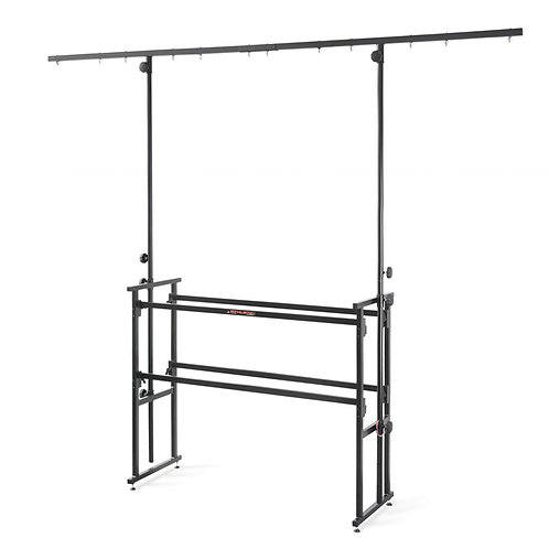 ATHLETIC DJ-4T PROFESSIONAL 4ft 4-FOOT DJ WORKSTATION STAND WITH LIGHTING BAR