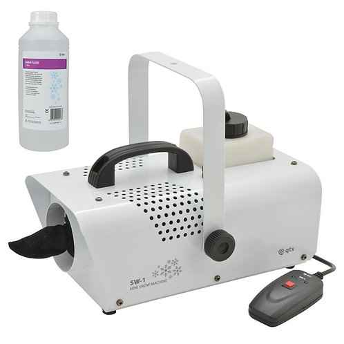 QTX SW-1 600W SNOW EFFECT MACHINE WITH WIRED REMOTE + 1 LITRE OF FLUID HIRE
