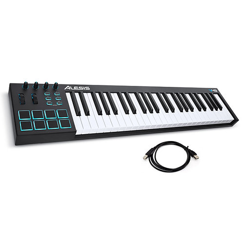 ALESIS V49 49-KEY 8 PAD USB MIDI KEYBOARD CONTROLLER + SOFTWARE + USB CABLE