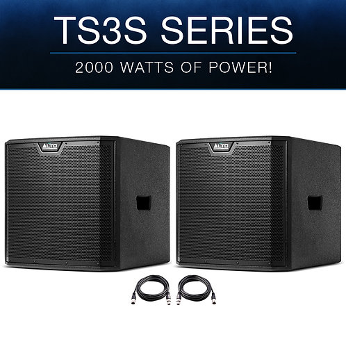 "2x ALTO TS312S 12"" 4000W POWERED ACTIVE PA SUBWOOFER SUB BASS SPEAKER DJ DISCO"