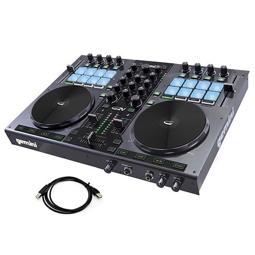 GEMINI G2V 24-BIT USB MIDI CONTROLLER WITH 2-CHANNEL MIXER + VIRTUAL DJ SOFTWARE