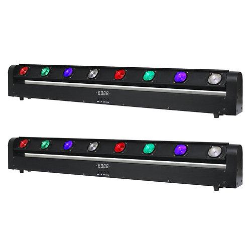 2x EQUINOX SWING BATTEN 160W RGBW LED SWEEPER BEAM LIGHT DJ DISCO LIGHTING BAR