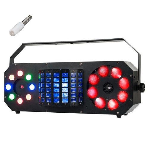 AMERICAN DJ ADJ BOOM BOX FX2 4-FX-IN-1 LED DERBY + GOBO LIGHT + LASER HIRE