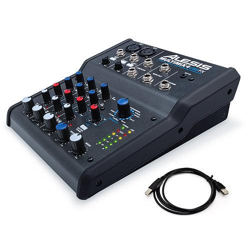ALESIS MULTIMIX 4 USB FX 4-CHANNEL LIVE MIXING DESK + USB STUDIO INTERFACE MIXER