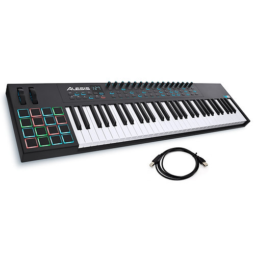 ALESIS VI61 ADVANCED 61-KEY 16 PAD USB MIDI KEYBOARD CONTROLLER + SOFTWARE