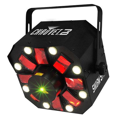 CHAUVET SWARM 5 FX 3-IN-1 LED DERBY + STROBE LIGHT + RED + GREEN LASER DJ DISCO