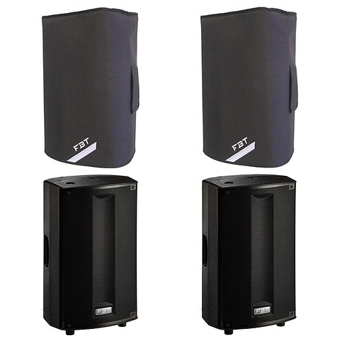 "2x FBT PROMAXX 110A PRO 10"" 3600W POWERED ACTIVE PA SPEAKER DJ DISCO BAND +COVER"