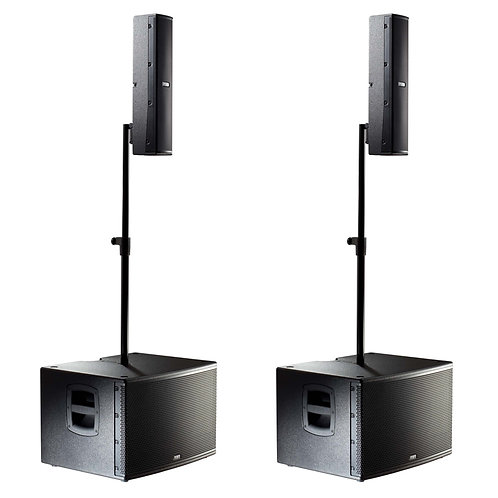 2x FBT VERTUS CS1000 2000W COMPACT LINE ARRAY SPEAKER + SUBWOOFER SYSTEM