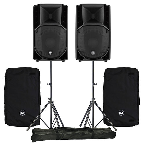 "2x RCF ART 712-A MK4 12"" 2800W ACTIVE PA SPEAKER DISCO BAND CLUB +COVERS +STANDS"