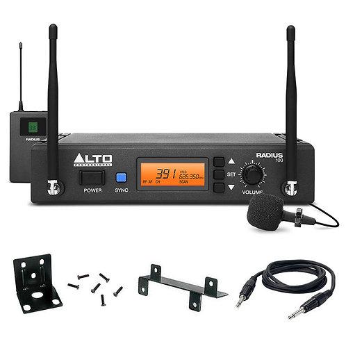 ALTO RADIUS 100L PRO UHF DIVERSITY WIRELESS RADIO LAVALIER MICROPHONE MIC SYSTEM