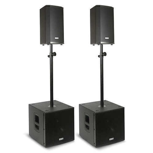 FBT VN1000 2x VENTIS 108A SPEAKER + 2x SUBLINE 112SA SUBWOOFER POWERED PA SYSTEM