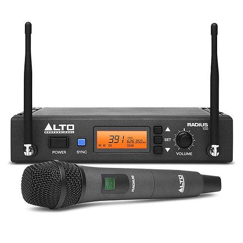 ALTO RADIUS 100 PRO UHF DIVERSITY WIRELESS RADIO HANDHELD MICROPHONE SYSTEM HIRE