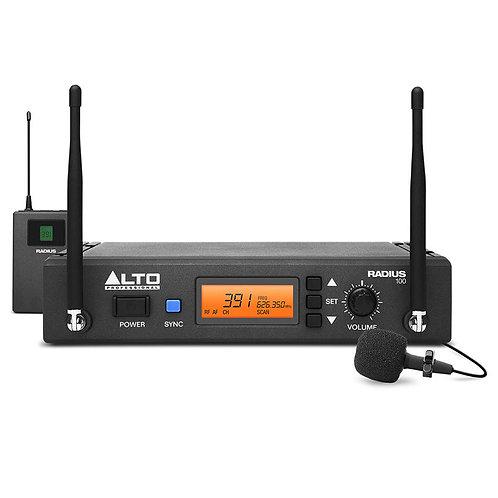 ALTO RADIUS 100L PRO UHF DIVERSITY WIRELESS LAVALIER MICROPHONE SYSTEM HIRE