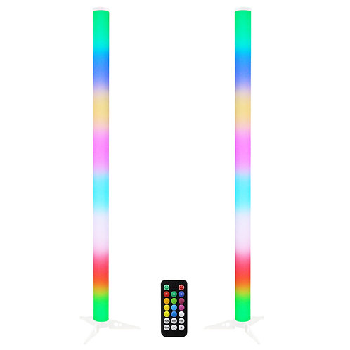 2x EQUINOX PULSE TUBE 1m COLOUR CHANGING LED DJ DISCO LIGHTING EFFECT + REMOTE