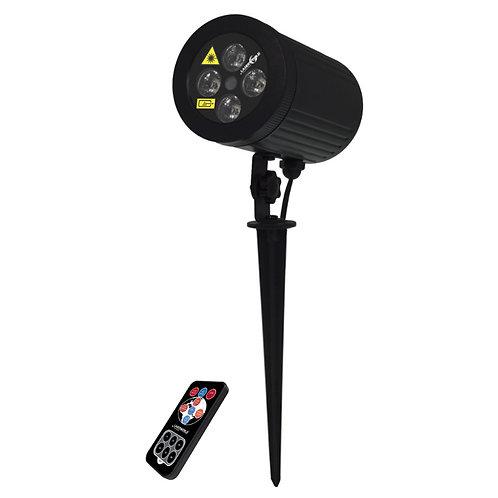 LASERWORLD GS-100RGB LED INDOOR + OUTDOOR GARDEN LASER + WASH LIGHT + REMOTE