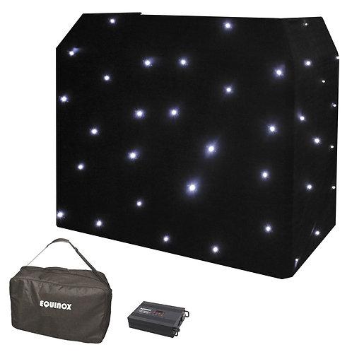 EQUINOX DJ BOOTH WHITE LED STARCLOTH SYSTEM CW + DMX CONTROLER + STAR CLOTH BAG