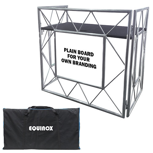 EQUINOX TRUSS BOOTH SYSTEM LIGHTWEIGHT FOLDABLE MOBILE DJ STAND + SHELF + BAG