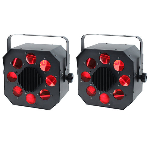 2x EQUINOX SHARD 120W RGBW LED MOONFLOWER LIGHT DJ DISCO CLUB BEAM FX LIGHTING