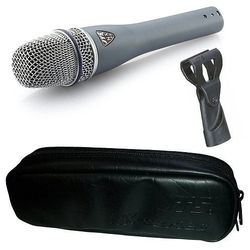 JTS NX-8.8 HANDHELD CONDENSER WIRED VOCAL MICROPHONE LIVE OR STUDIO +CLIP +CASE