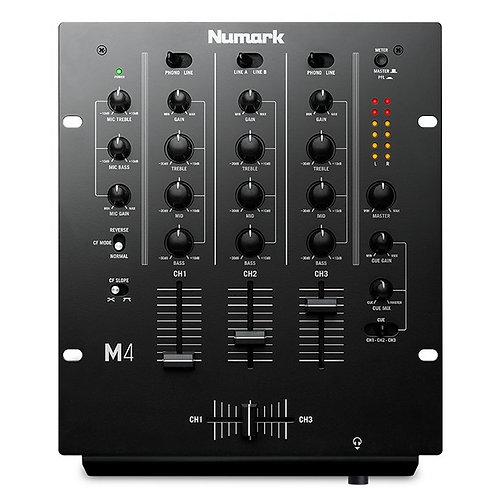 NUMARK M4 PROFESSIONAL 3-CHANNEL SCRATCH DJ MIXER WITH MIC INPUT + EQ