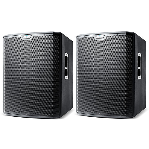 "2x ALTO TS218S 18"" 1250W RMS POWERED PA SUBWOOFERS SPEAKERS HIRE"