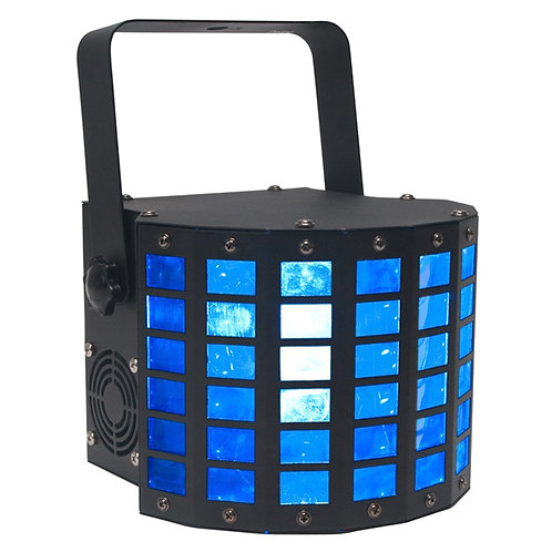 AMERICAN DJ ADJ MINI DEKKER 20W LED RED GREEN BLUE WHITE MOONFLOWER LIGHT HIRE