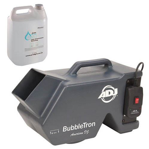AMERICAN DJ ADJ BUBBLETRON HIGH OUTPUT BUBBLE MACHINE + WIRED REMOTE + 5L FLUID