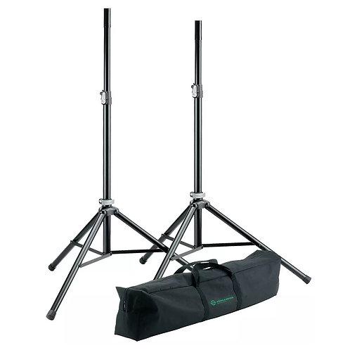 K&M KONIG AND MEYER PROFESSIONAL SPEAKER STAND SET - 2x STANDS + CARRY BAG