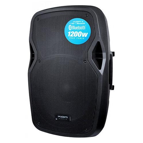 "KAM RZ15A V3 BLUETOOTH 1200W 15"" POWERED ACTIVE PA SPEAKER +USB MP3 MEDIA PLAYER"