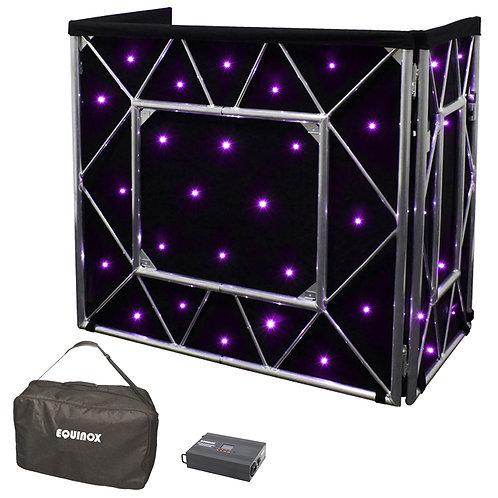 EQUINOX TRUSS BOOTH QUAD LED STARCLOTH SYSTEM + DMX CONTROLER + STAR CLOTH BAG